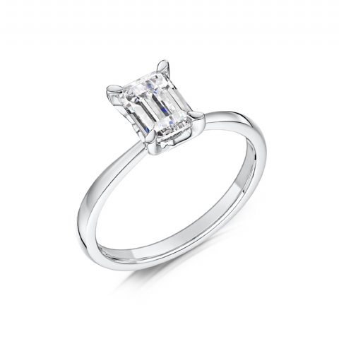 0.4 Carat GIA GVS Diamond solitaire Platinum. Emerald cut. Engagement Ring, MPSS-1196/040
